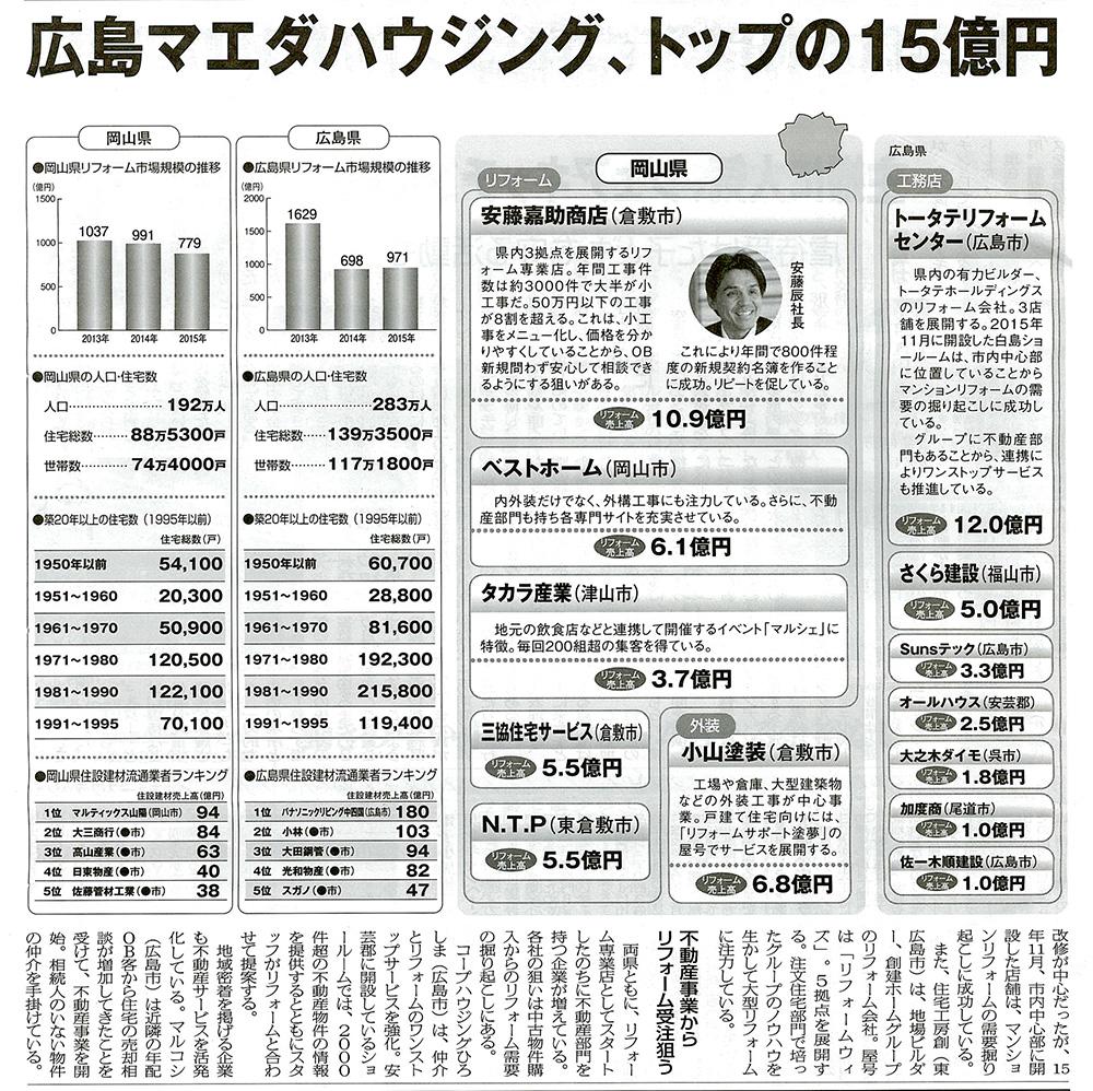 リフォーム産業新聞 2017.03.07号