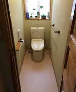 トイレの床がきれいに。