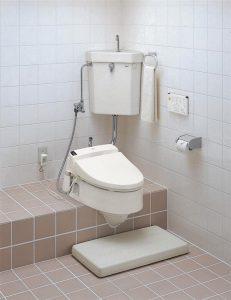 和式トイレにウォシュレット!?