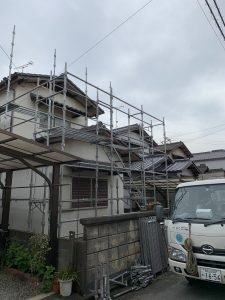 倉敷市玉島上成で外壁塗装・屋根塗装工事がスタート。