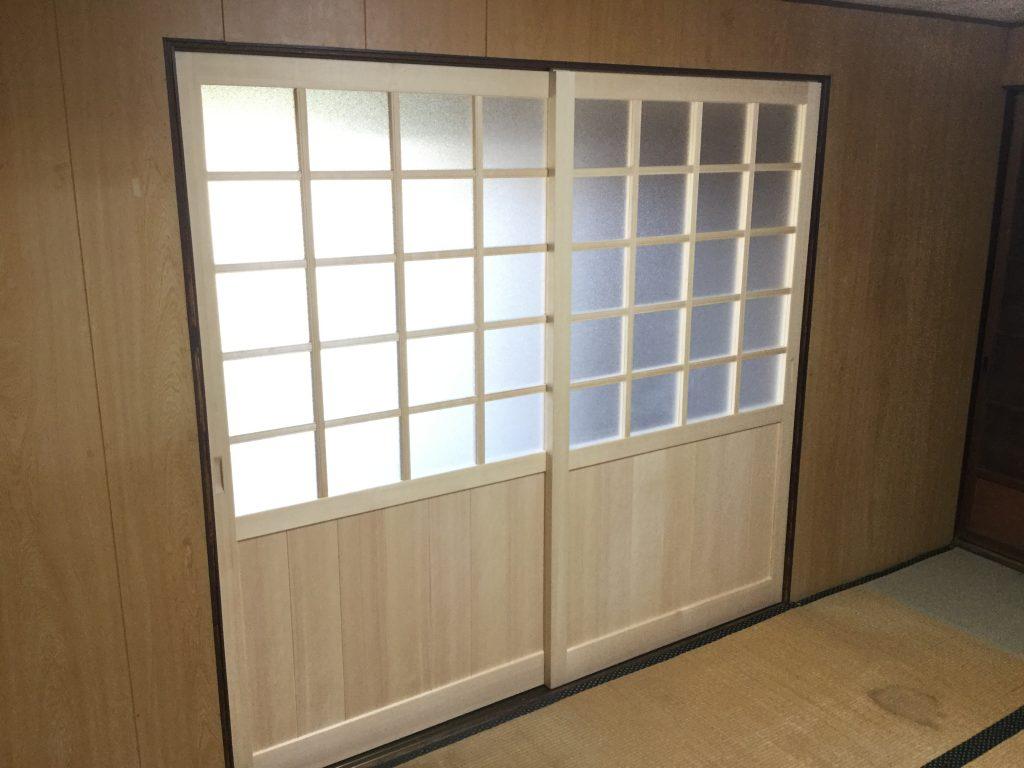 【和室建具工事】安全に適度な明るさを確保