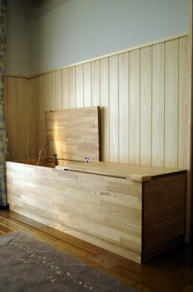 ジャストサイズの収納家具を造作