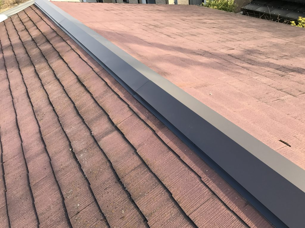 【屋根修理】屋根の棟部分のリフォーム。