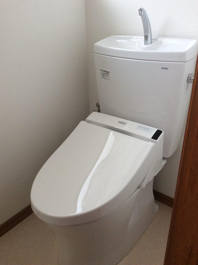トイレも壁紙も新しくなりました。