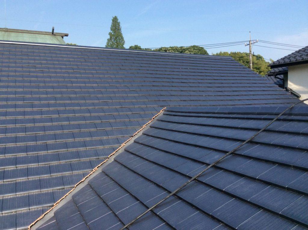 屋根瓦を葺き替えました。