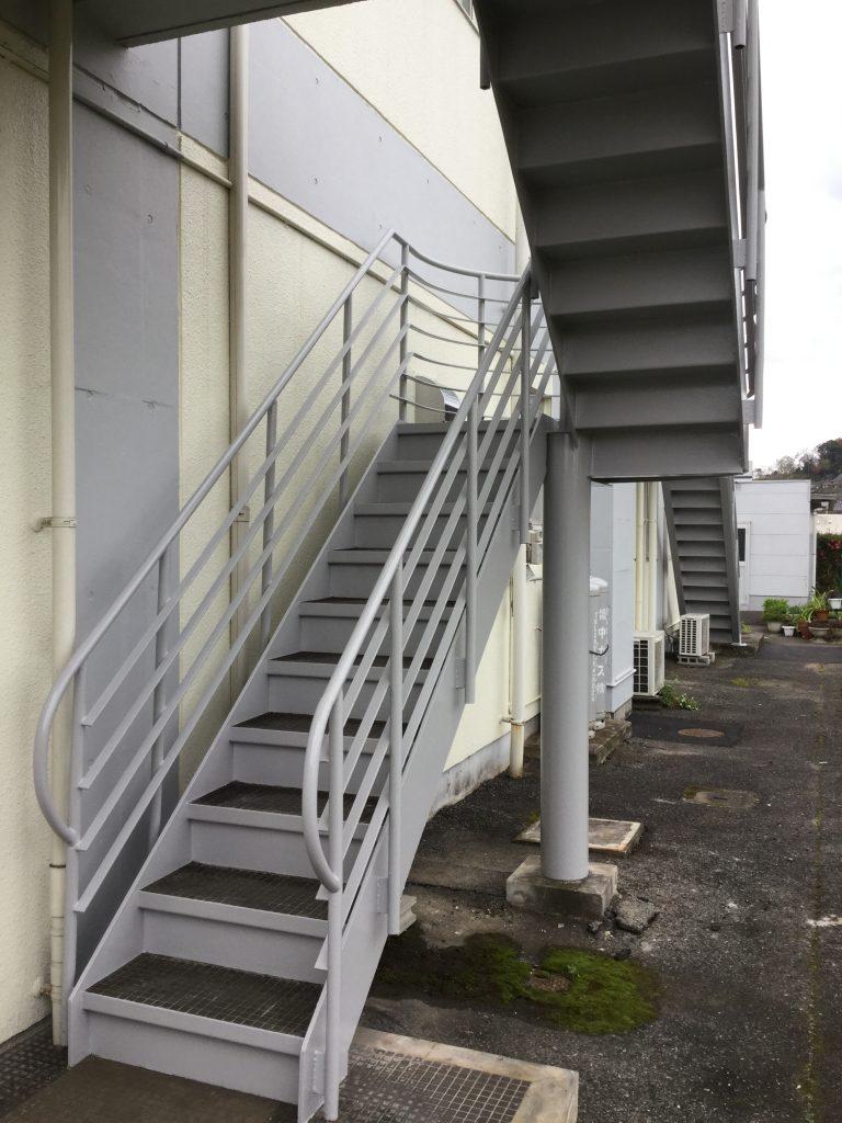 【外部階段塗装工事】