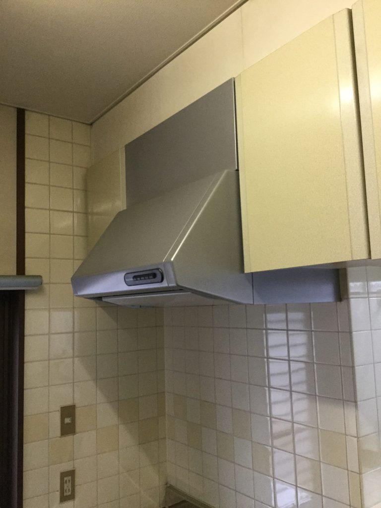 台所換気扇 シロコッファン交換