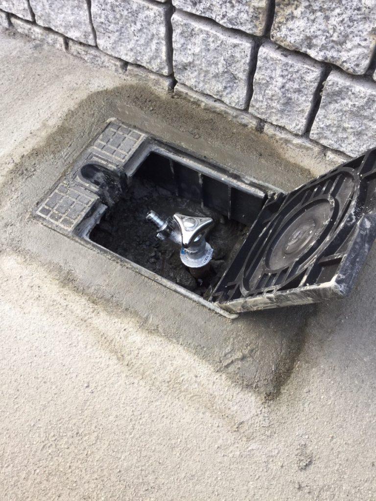 散水栓カバー交換
