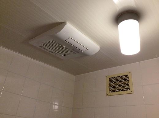 多機能換気扇で快適お風呂