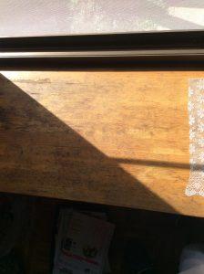 【出窓天板補修】プロの技術で蘇った木目