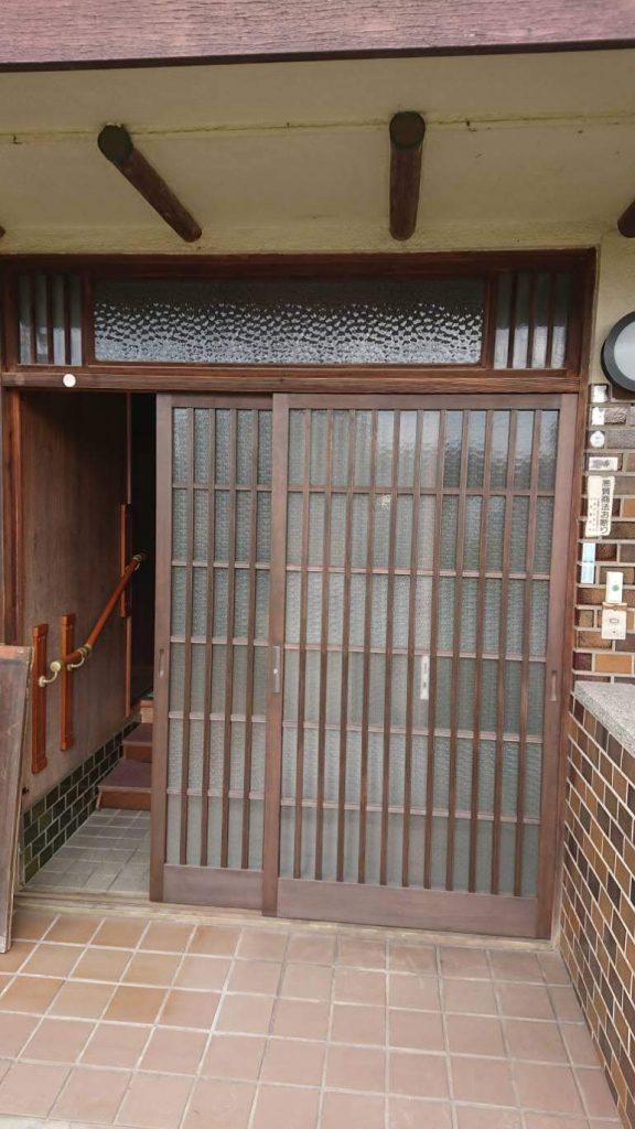 木製玄関建具交換工事
