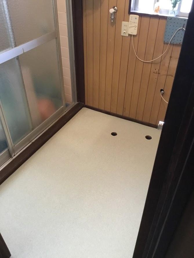 床増し貼り+クッションフロア貼り換え