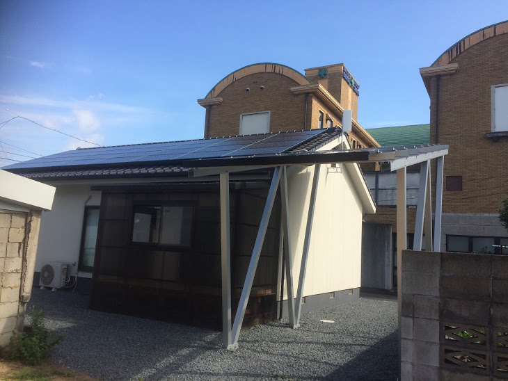 太陽光発電 屋根+架台作成