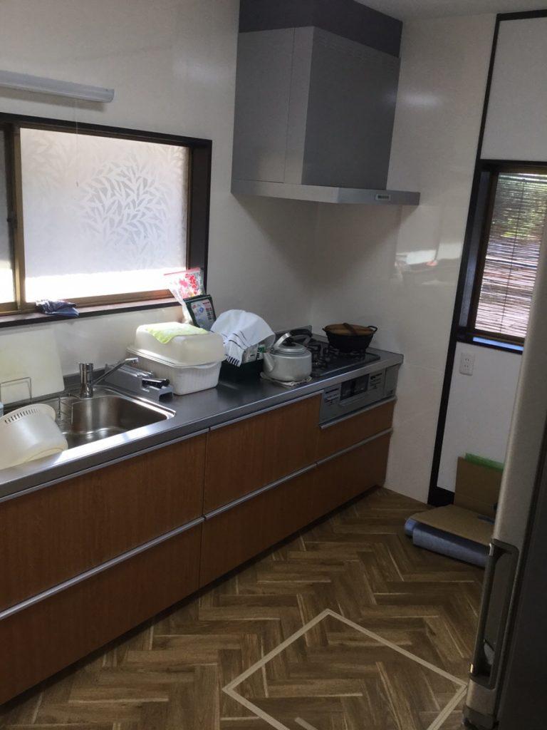 キッチン改修工事  TOTO ミッテ仕様