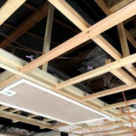 鴨方 K様邸 改修工事 天井収納はしごを付けました!