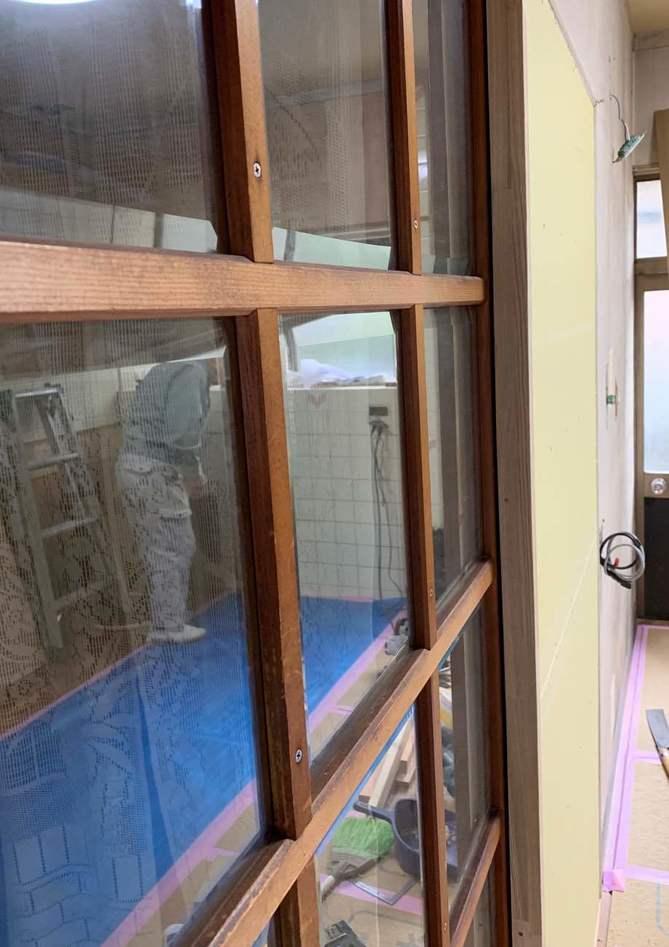 【下地壁作成】壁掛けテレビで、ダイニングテーブルのスペース確保!