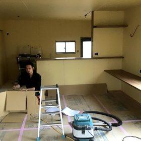 鴨方 K様邸 改修工事 大工作業が追い込みにかかってます。