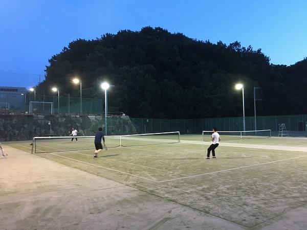 テニスしました!