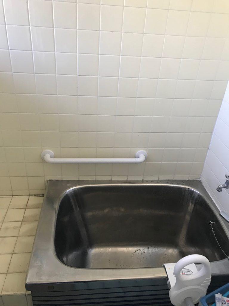 【浴室】浴室に手すり取付。