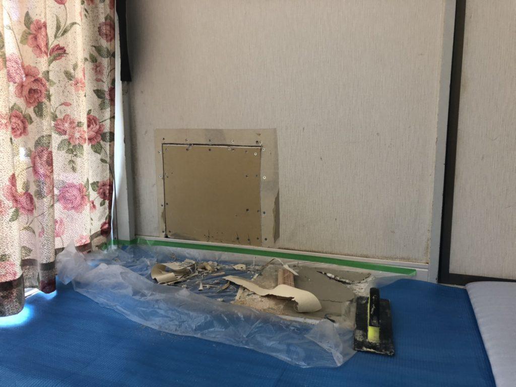 壁穴補修は既存クロスと新しいクロスとの相性が重要です。