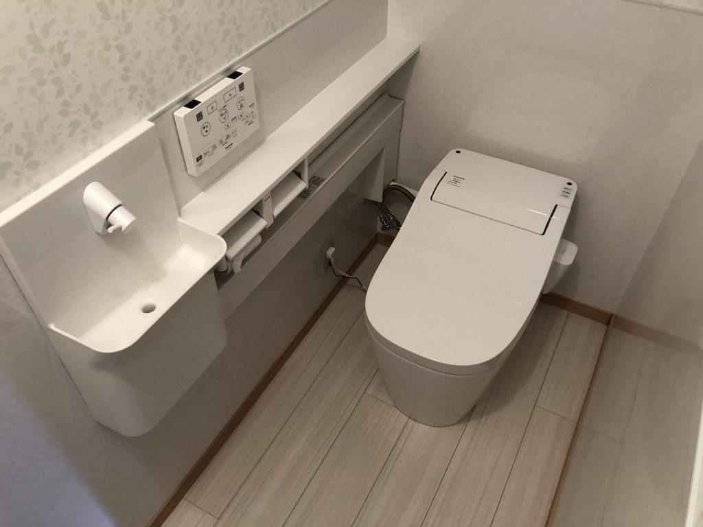 泡が出るトイレに替えてお掃除楽々♪