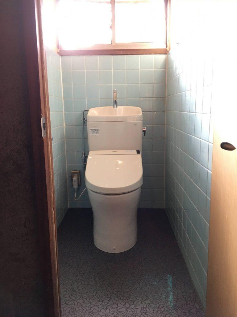 1日でお手入れしやすいトイレ空間に!
