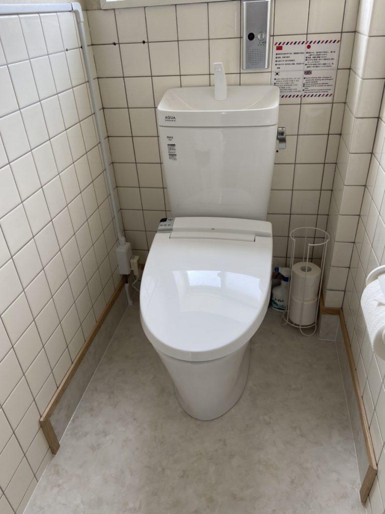 壁にもクッションフロア!掃除がしやすく、使いやすいトイレです!