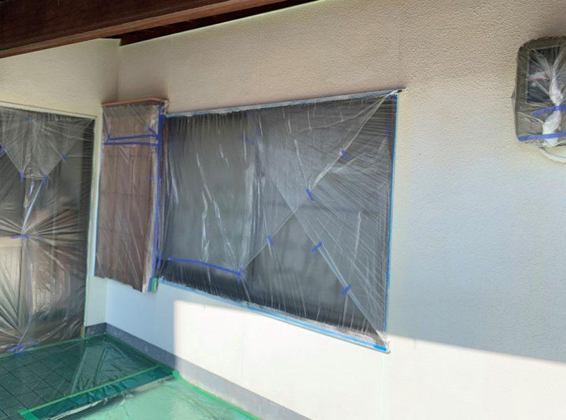 外壁塗装工事の時も養生はしっかりと
