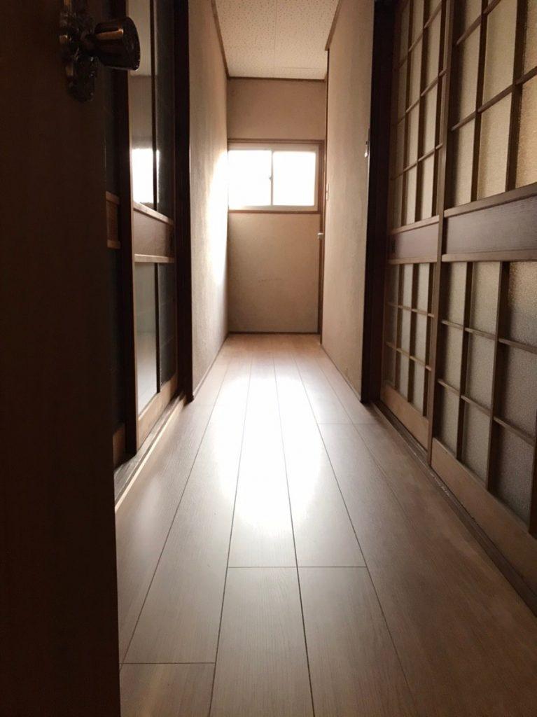 【廊下工事】床やり替え