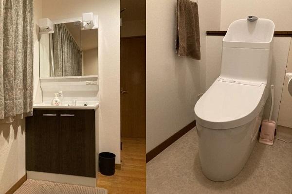 新しい洗面台とトイレで気持ちよく新年を迎えました