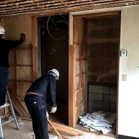 里庄 N様邸 リノベ工事 解体中です。