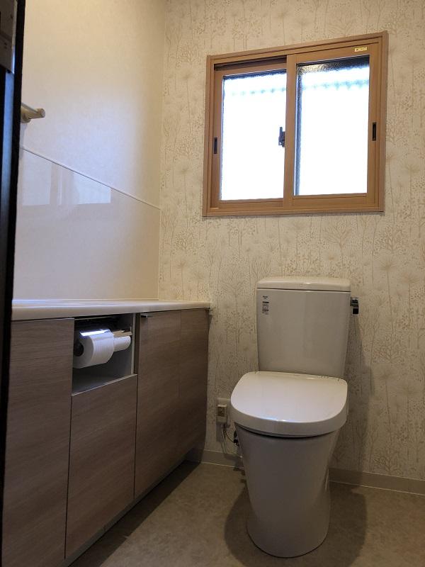 【トイレ改修】統一感のある広い空間に
