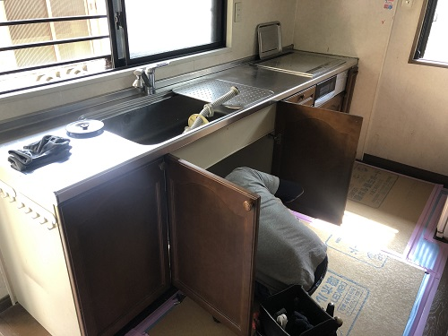 倉敷市でキッチン工事始まりました♪
