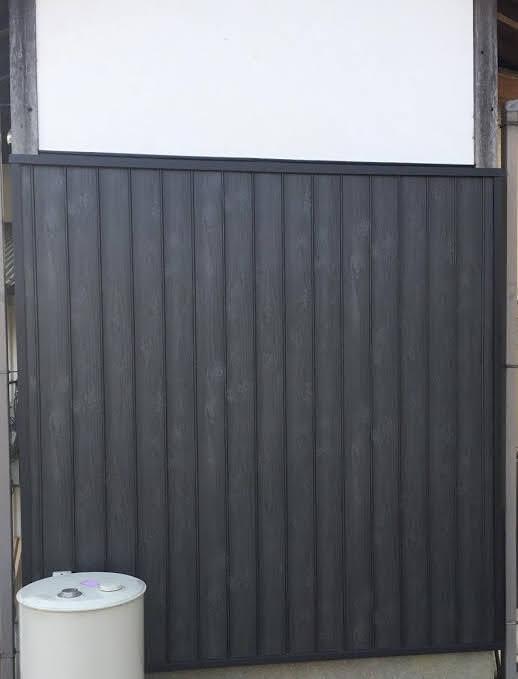 【土壁補修】焼き板風板金で綺麗に仕上げました。