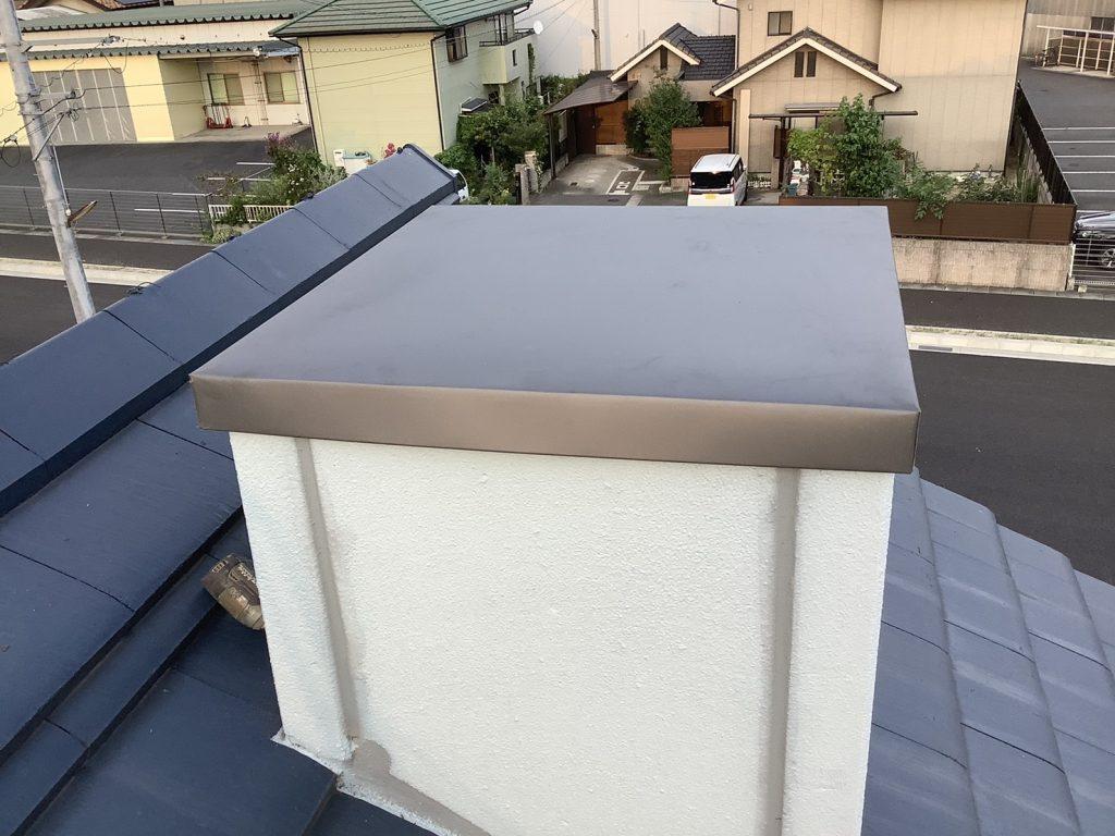 鳩小屋の屋根が飛んでました・・・