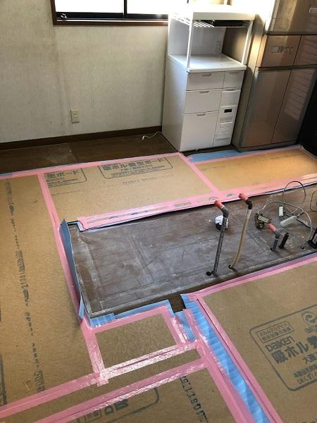 キッチン工事②