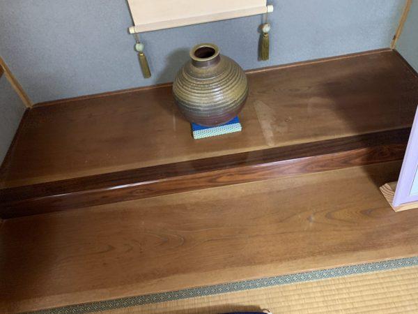 笠岡市で床の間の床板補修をしました。